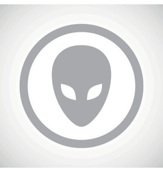 Grey alien sign icon vector