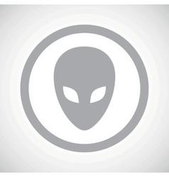 Grey alien sign icon vector image