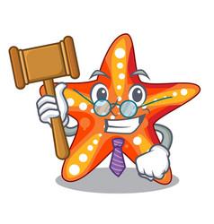 judge underwater sea in the starfish mascot vector image