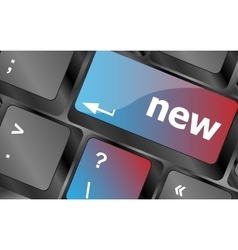 Keyboard with hot key with new word vector