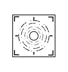 line gun sight circle with shooting focus vector image
