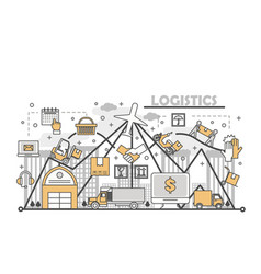 logistic services concept in vector image
