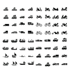 logistics and transport icons 64 item vector image