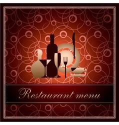 Luxury template for f restaurant menu vector
