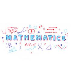mathematics word vector image