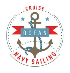 Nautical logo emblem label template vector