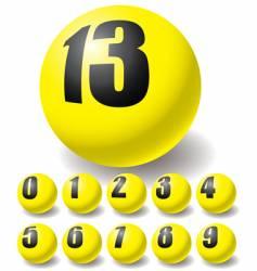 Numeric balls vector