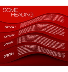 One two three four - options background vector