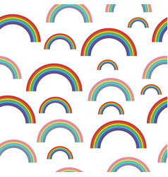 pastel rainbows - oldschool seamless pattern vector image