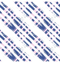 Plaid pattern with wide brushstrokes and stripes vector