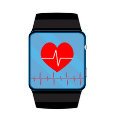 pulsometer smart watch vector image
