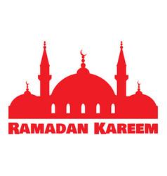 ramadan kareem islamic mosque vector image vector image