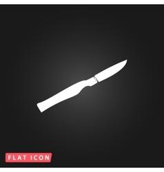 Scalpel cut flat icon vector