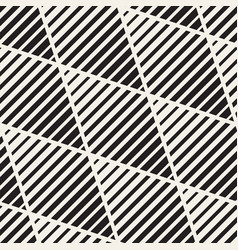 Seamless black and white halftone lines vector