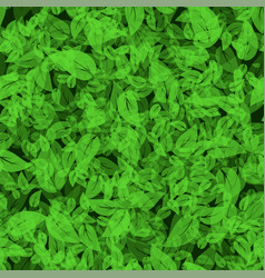 Seamless spring green leaves background vector