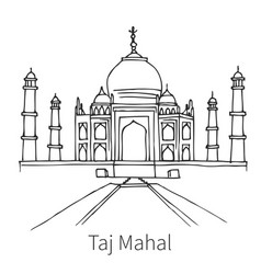 taj mahal drawing sketch vector image