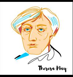Theresa may portrait vector