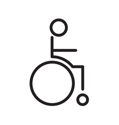 Thin line wheelchair icon vector