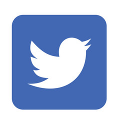 Twitter logo icon vector