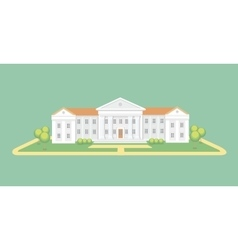 University or college building Campus graduation vector