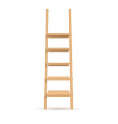wooden ladder-shelves vector image