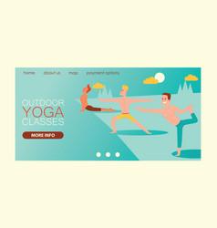 yoga landing web page people yogi character vector image