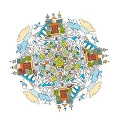 City Mandala 01 A vector image