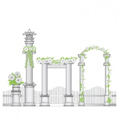 garden arch vector image vector image