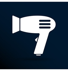 Hairdryer sign icon Hair drying symbolBlowing hot vector image