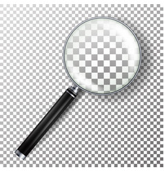 realistic magnifying glass isolated on vector image