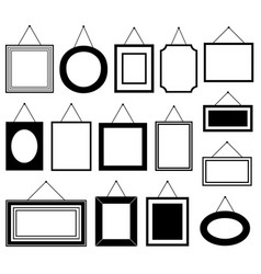 set of different picture frames vector image vector image
