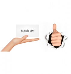 set with hands vector image vector image