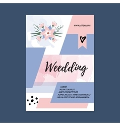 wedding Brochure blank template Front page vector image vector image
