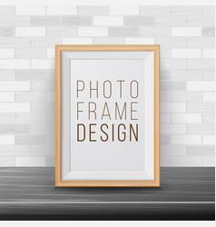 3d photo frame rectangular frame template vector image vector image