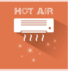 air conditioner heating icon with text vector image