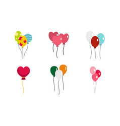 ballons icon set flat style vector image