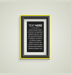 classis frame on the wall vector image vector image