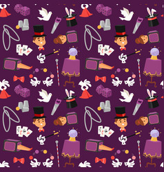 Magician seamless pattern vector