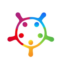 Teamwork holding hands logo vector image