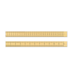 a realistic wooden ruler of 30 cm and 12 inches vector image