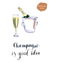 champagne is good idea vector image