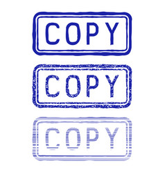 copy stamp blue collection vector image vector image