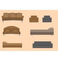 Furniture set vector image