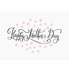 Happy Mothers day simple typography vector image