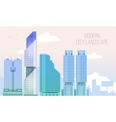 Modern City View Skyscraper Cityscape Background vector image vector image