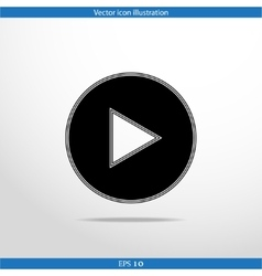 play web flat icon vector image