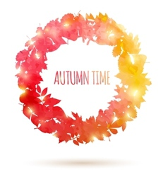 Watercolor painted autumn leaves vector image vector image