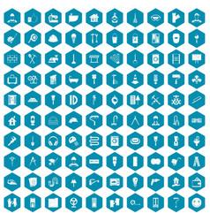 100 renovation icons sapphirine violet vector image vector image