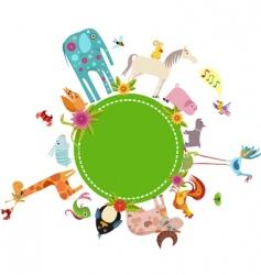 animal card vector image