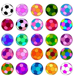Colorful ball set vector